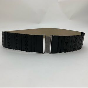 4/$25 NEW Style & Co. Black Stretch Wide Belt